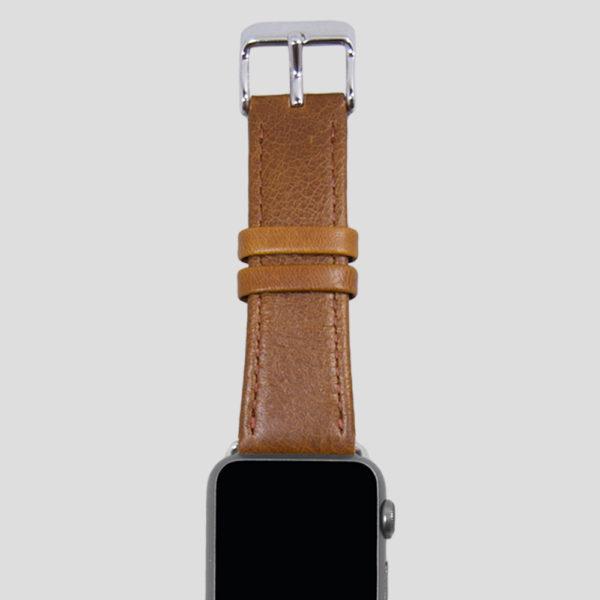 Brunt klassiskt läderarmband för Apple Watch
