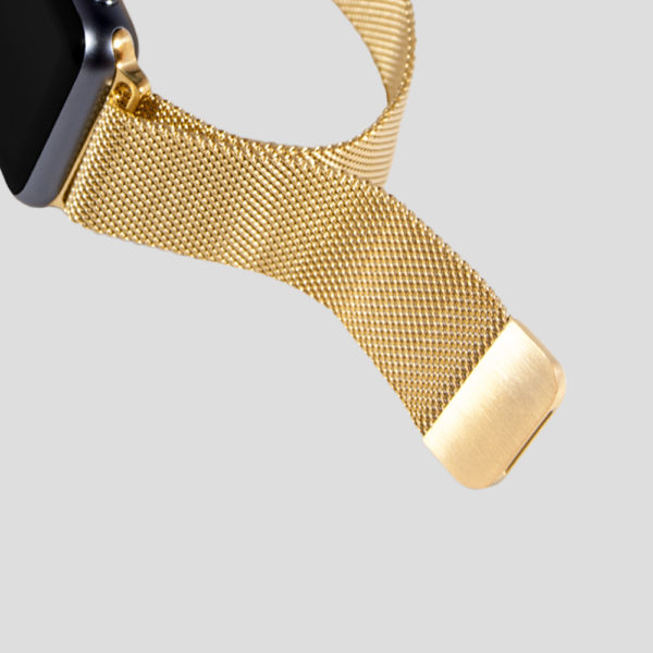 Guld Milanesisk loop-armband för Apple Watch