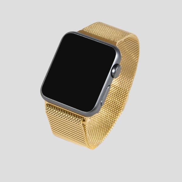 Guld Milanesisk loop-armband för Apple Watch