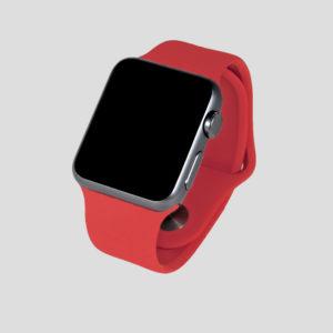 Rött sportarmband för Apple Watch
