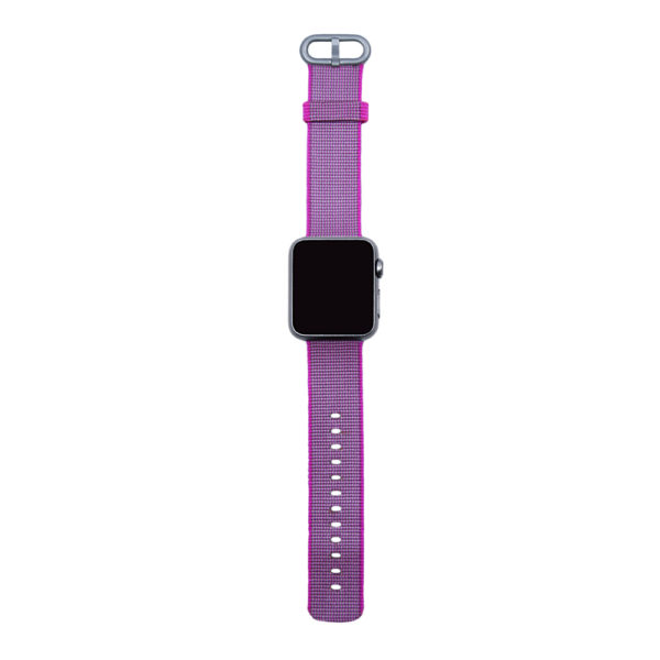 Rosa vävt nylonarmband för Apple Watch