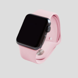 Rosa sportarmband för Apple Watch