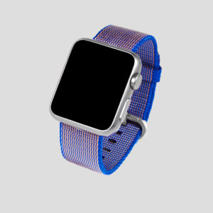 Blårosa vävt nylonarmband för Apple Watch