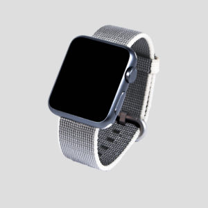 Silver vävt nylonarmband för Apple Watch