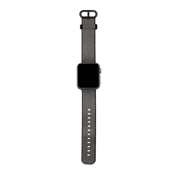 Svart vävt nylonarmband för Apple Watch