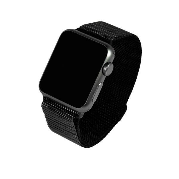 Svart milanesisk loop-armband för Apple Watch