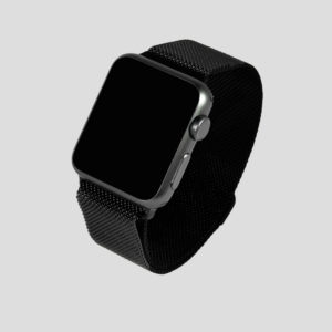 Svart Milanesisk loop armband för Apple Watch