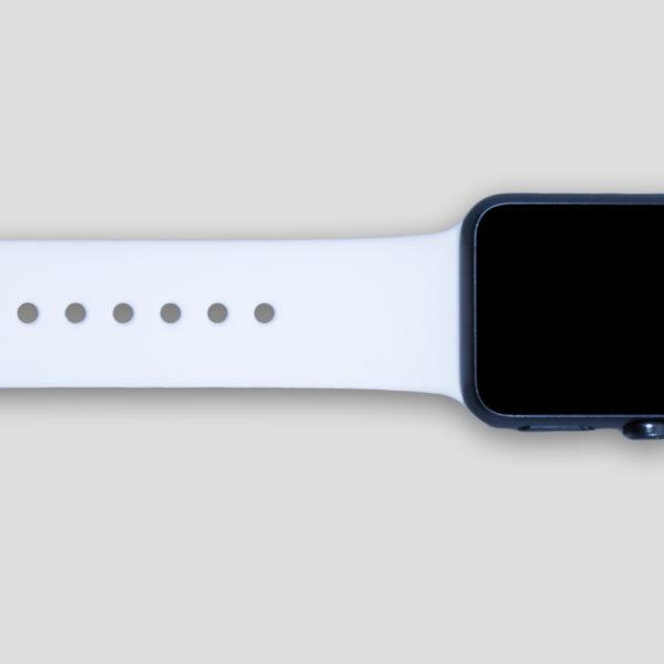 Vitt sportarmband för Apple Watch