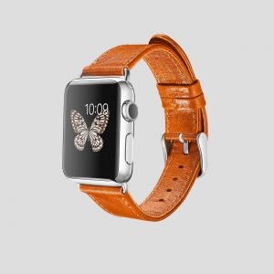 Brunt klassiskt läderarmband för Apple Watch