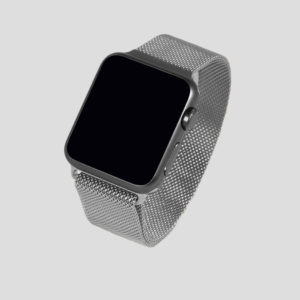 Silver Milanesisk loop-armband för Apple Watch
