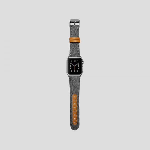 Grå textilarmband för Apple Watch