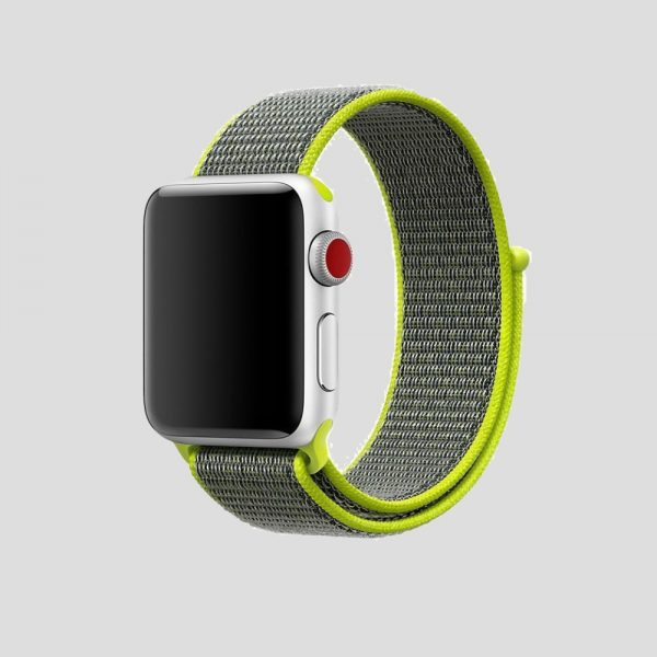 Gulgrå soft sport armband för Apple Watch