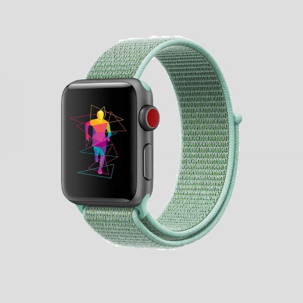 Ljusgrön soft sport armband för Apple Watch