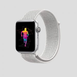 Vit soft sport armband för Apple Watch